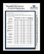 Reusable Monopolar Electrodes
