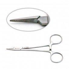 Halsey Needle Holder 5in serrated