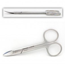 Wire Cutting Scissors 4 inches curved serrated (crown)