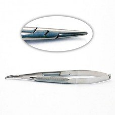 Barraquer Needle Holder Curved W/O