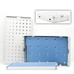 ALUMINUM STERILIZATION TRAY DOUBLE w/ MAT