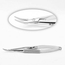 BARRAQUER NEEDLE HOLDER WITH LOCK DELICATE CURVED