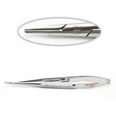 BARRAQUER NEEDLE HOLDER CURVED WITH LOCK DELI