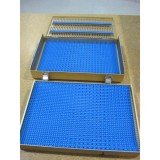 Microsurgical tray, 2 level, full pin mats