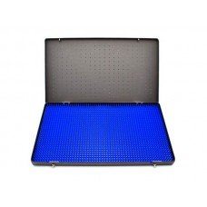 Microsurgical Inst Tray 14x8x3 Anodized Alum