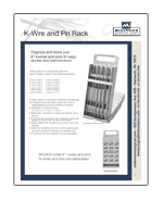KWire and Pin Rack and Dispensers